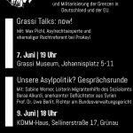 Podiumsdiskussionen Asylpolitik und Grenzen - 7.6. und 9.6. in Leipzig - Event